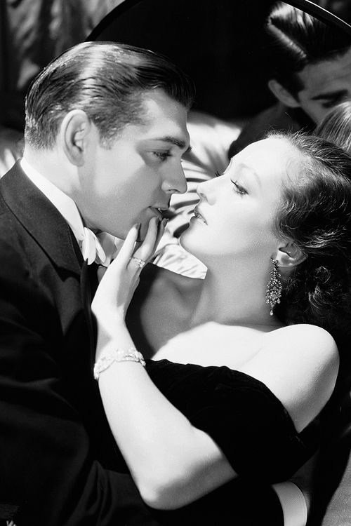Clark Gable and Joan Crawford, 1931, in a publicity shot for Possessed