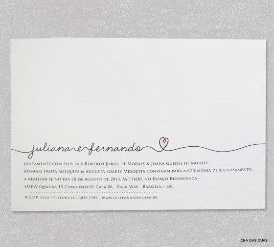 Convite de Casamento | Moderno Descolado Estiloso