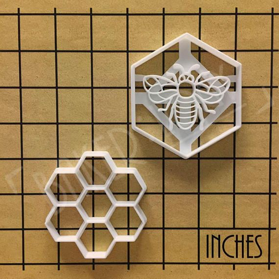 Honeycomb cookie cutter Honeybee biscuit design honeybees