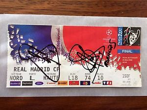 a ticket final champions league 1999 00 real madrid valencia signed raul morientes