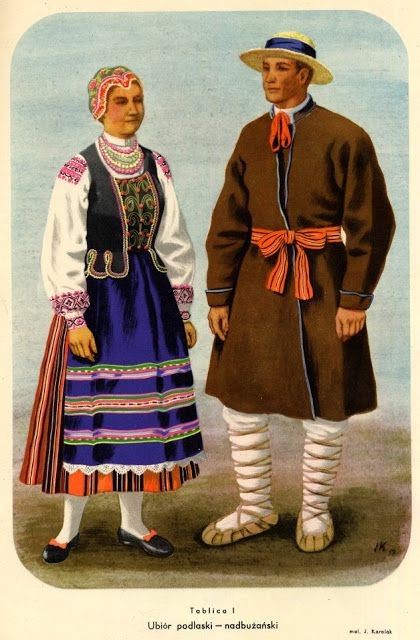FolkCostume&Embroidery: One Costume, Three Countries. Nadbuzhansk, Zabuzhia, Damachow Costume, Poland, Bielorus and Ukraine