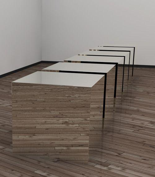 Space Sculpture, mirror cubes | Design: Donald Judd |