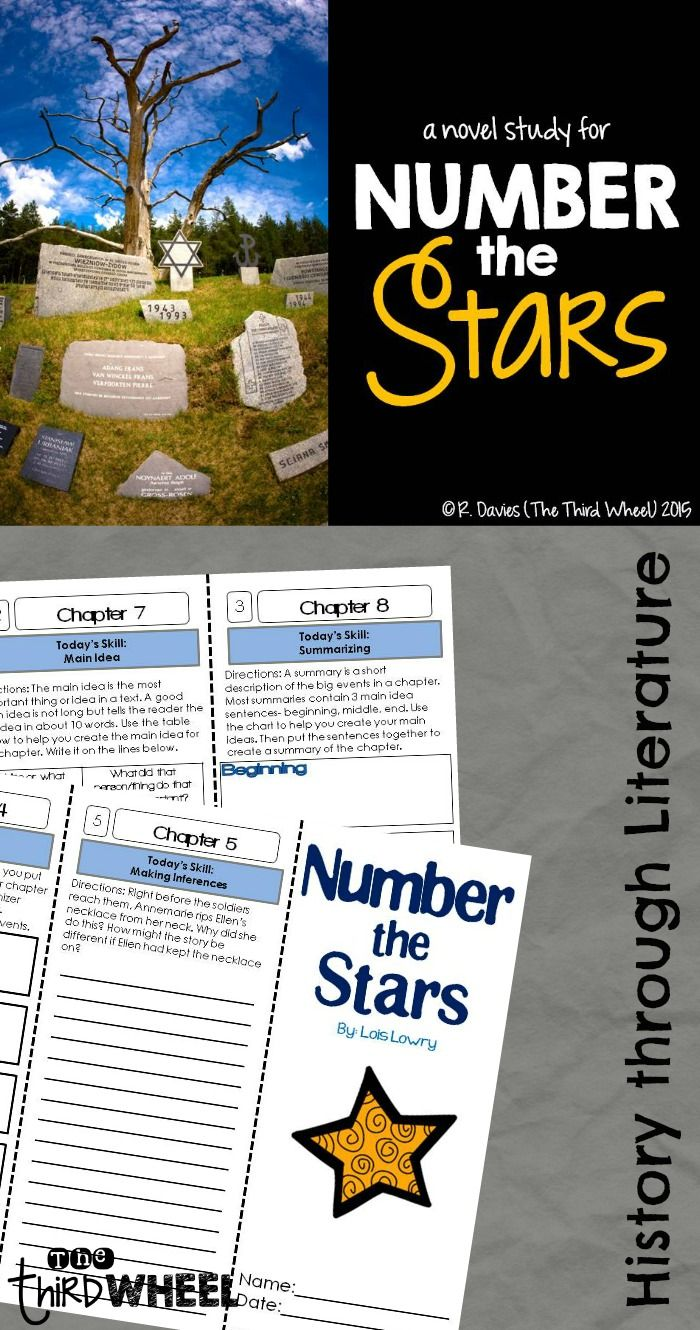 Teach reading comprehension and the Holocaust together through the book Number the Stars. Perfect for book clubs, small groups, and whole class novel studies. Easy trifolds are no prep.