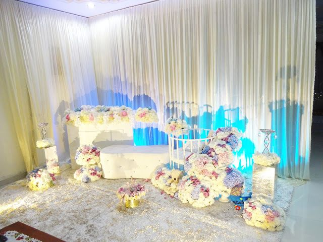 Decoration baby cradle for naming ceremony. Pelamin buaian berendoi, cukur jambul dan full pakej aqiqah www.alisdeco.blogsport.com Wasap 012-3550657