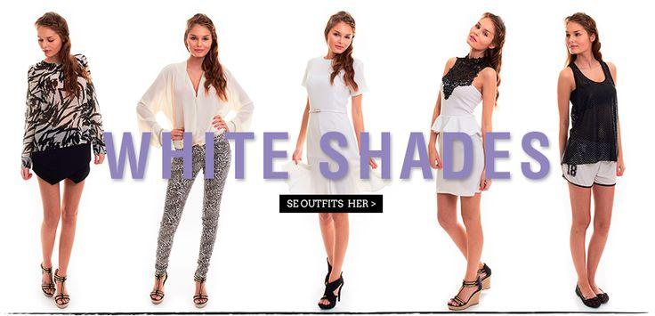 White shades.