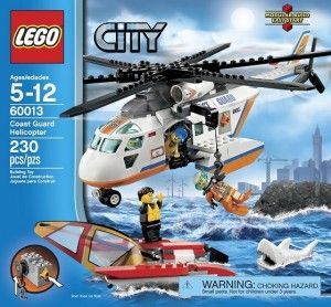 LEGO Coast guard Helicopter 60013  Thing One's number 1 choice!