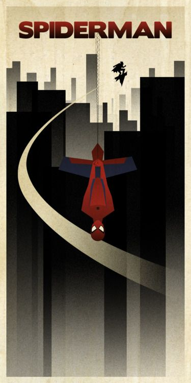 Spiderman Minimalist Movie Poster by Bruce Yan