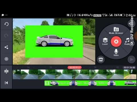 How to edit videos using kine master Chroma key effect