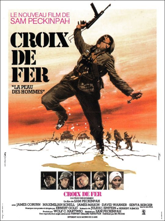Yves Thos  Cross of Iron, 1977    Affiche française du film.