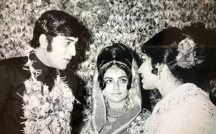 Vinod Khanna and Geetanjali..with Asha Parekh