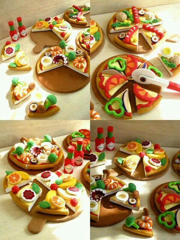 Felt pizza ideas.