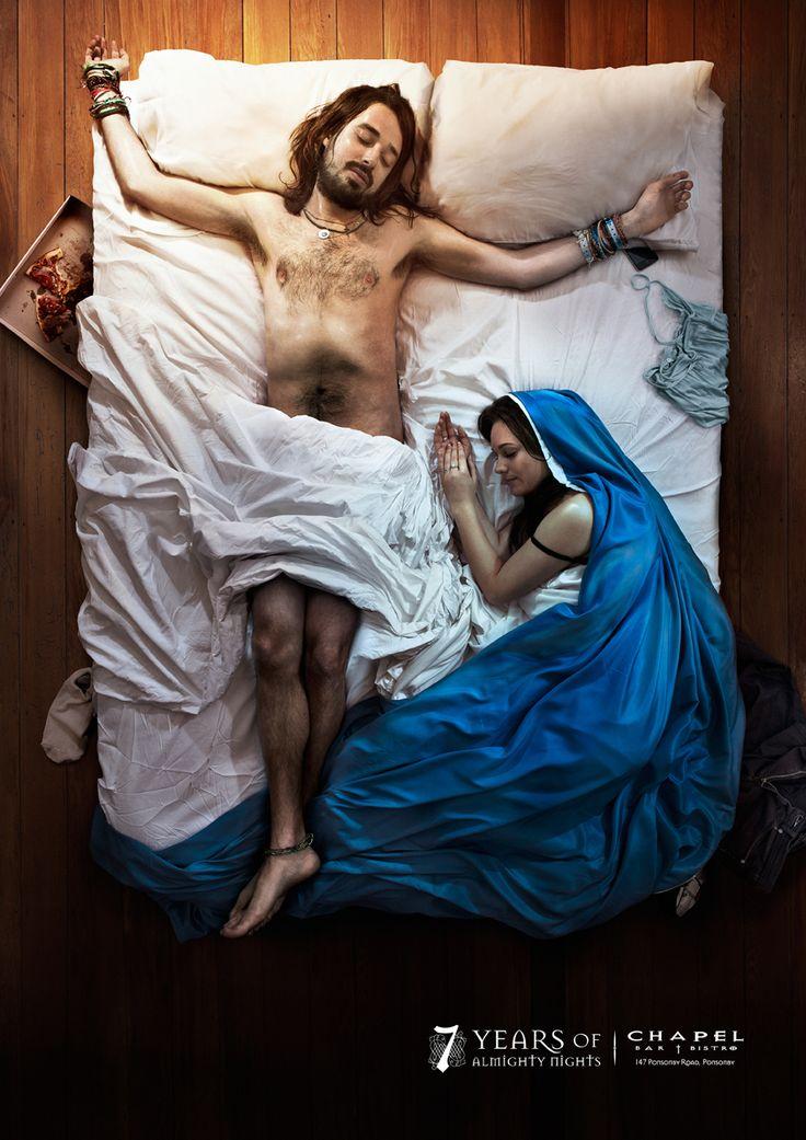 Kampania reklamowa:7 years of Almighty Nights  Agencja reklamowa: Ogilvy, Auckland, New Zealand  Dyrektor kreatywny: Angus Hennah  Kreatywni: Steve Hansen, Paul Kim  Fotograf: Troy Goodall