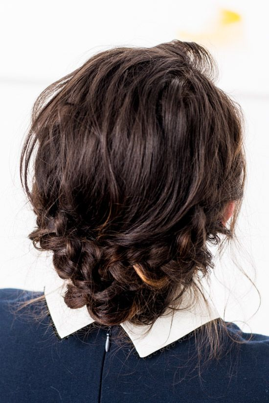 easy reverse crown braid hair tutorial