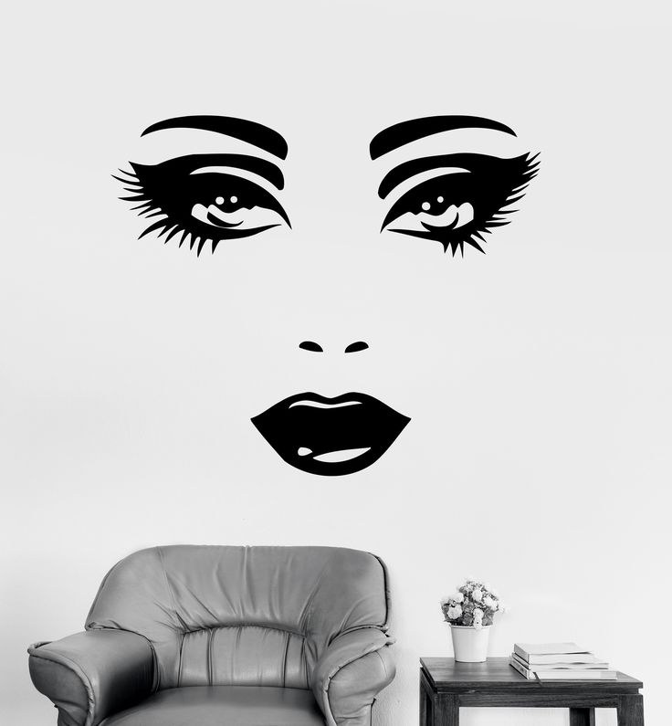 Wall Decal Sexy Face Eyes Woman Female Vinyl Sticker Z3262