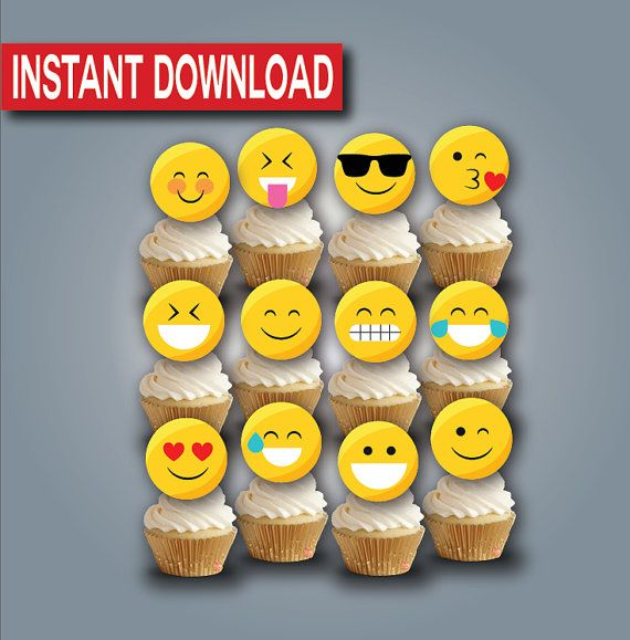 how to make emoji fondant topper