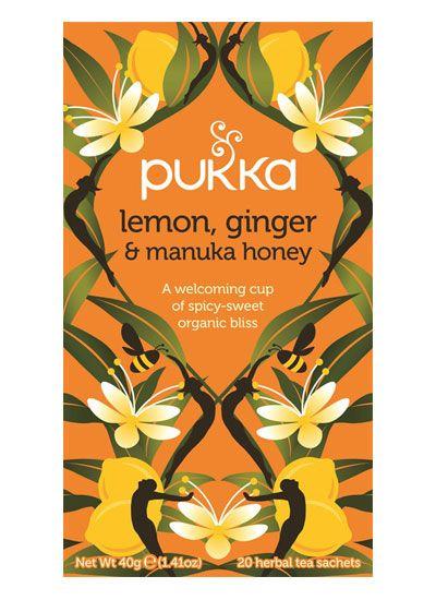 Pukka Lemon Ginger & Manuka Tea - Pukka