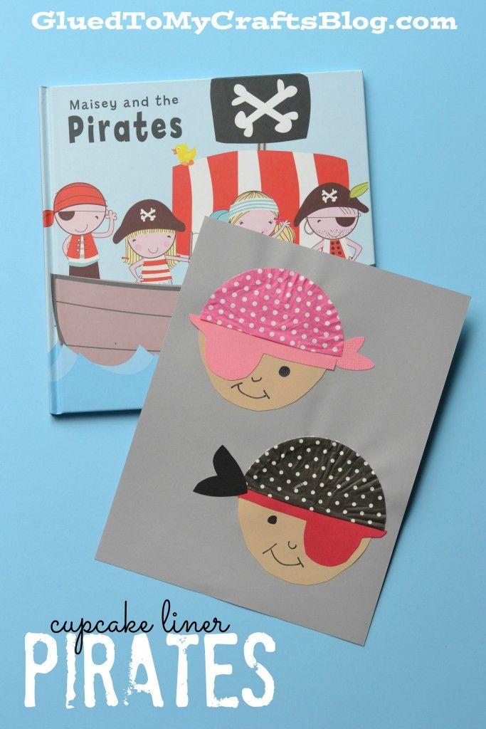 Cupcake Liner Pirates - Kid Craft