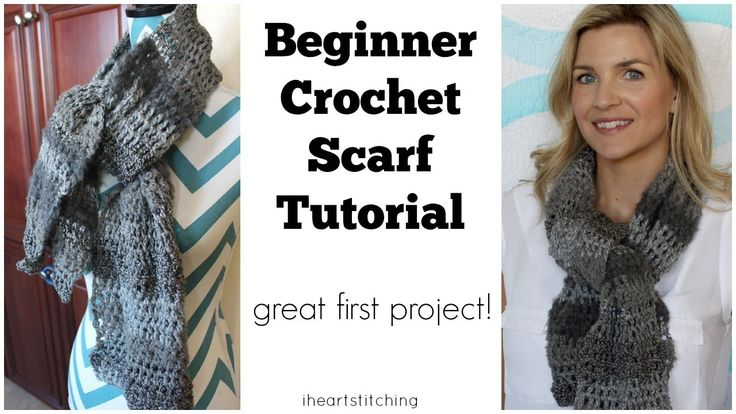Beginner Crochet Scarf Tutorial - Great FIRST Project!