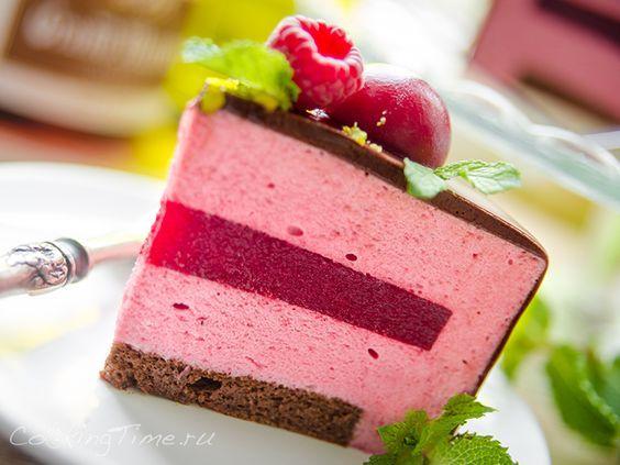 Шоколадно-Малиновый Муссовый Торт