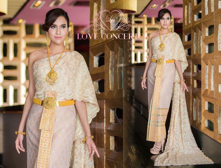 ชุดไทย ดารา Thai Wedding Dress Pinterest Thai