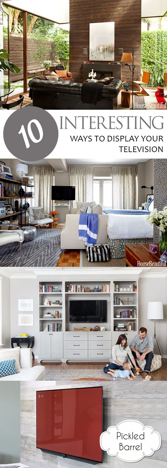 10 Interesting Ways To Display Your Television