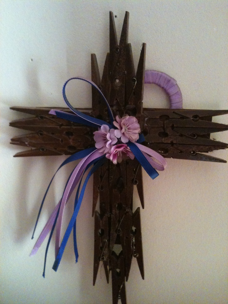 Cross Made From Clothes Pins School Pinterest Sunday