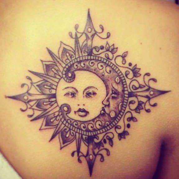 Elegant Sun Tattoos (14)