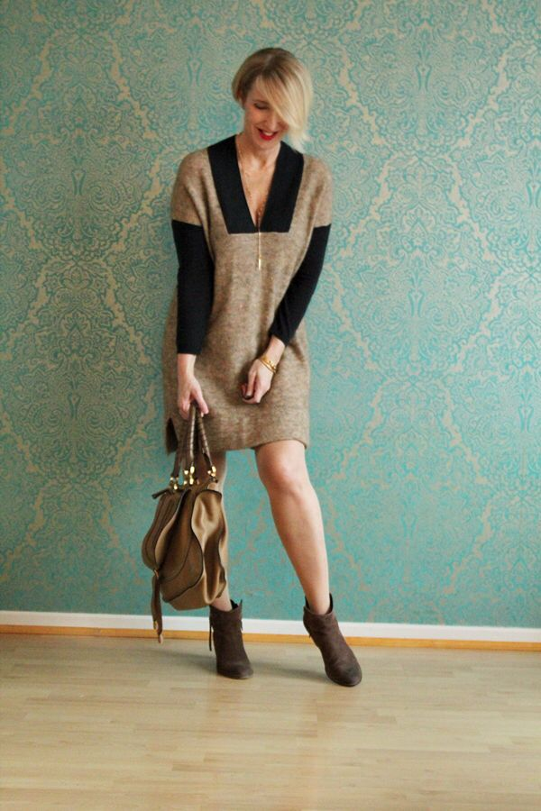 A fashion blog for women over 40 and mature women  Dress: HOSS Intropia  Booties: Sommerkind Bag: Chloé http://www.glamupyourlifestyle.com
