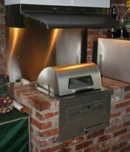 A permanent indoor BBQ - perfect for rainy summer days! #nationalbbqweek May 27th-June 2nd - Don't forget!