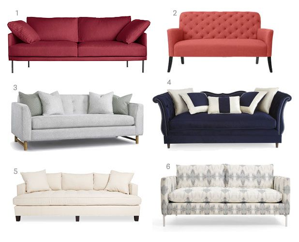 Sofas on Sale - Weekly Design Deals January 14, 2014 - House Beautiful I like the settee for in front of the fireplace