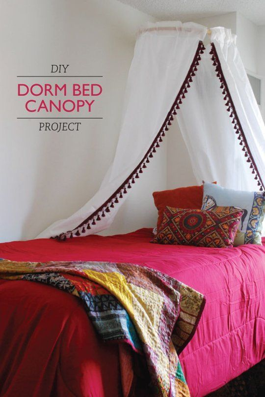 Get Laken's Look!: DIY Dorm Bed Canopy Project — Apartment Therapy Tutorials
