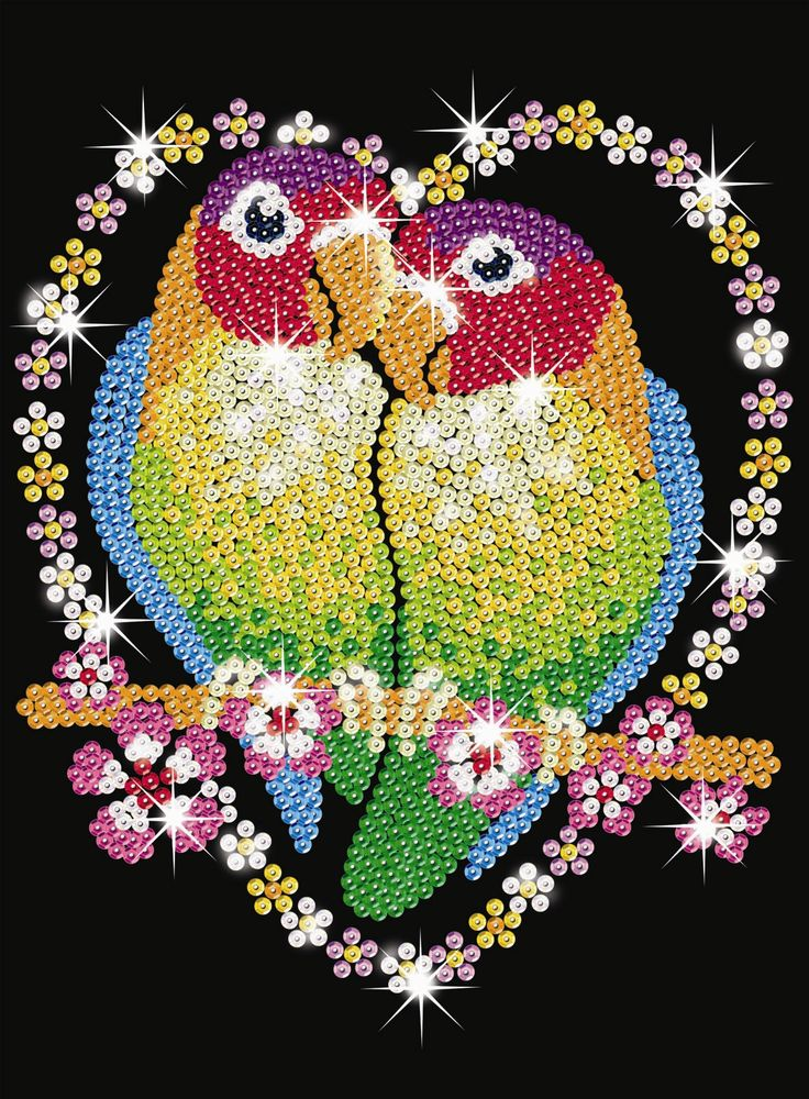 Sequin Art Love Birds Sa1002 Ksg Hobbies Griffs Pinterest Crafts Love Birds And Originals