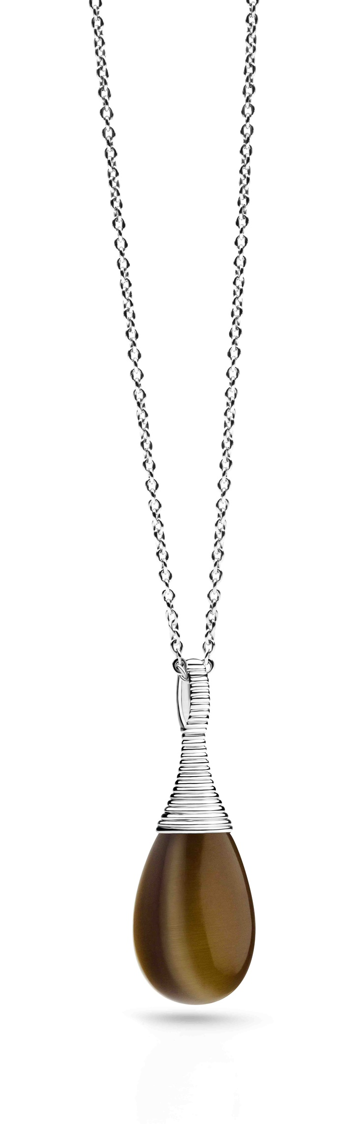Ti Sento Milano Curve collection necklace and pendant