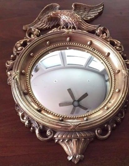 Syroco Vintage Federal Eagle Convex Wall Mirror 4007 Made in the USA