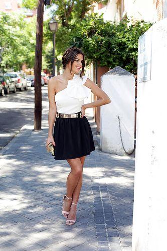 Vestido blanco y negro Arimoka via Apparentia de Seams for a desire