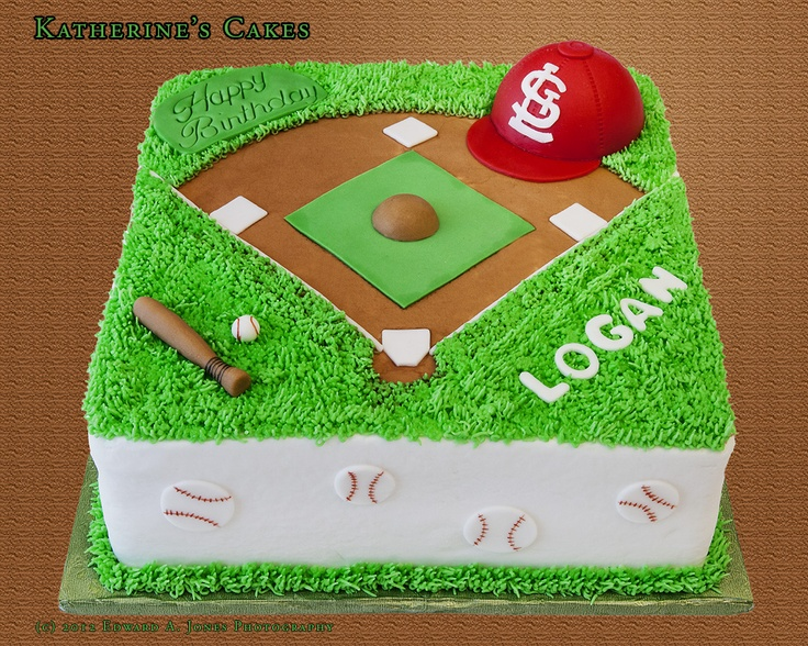 St Louis Cardinals Cake - finally, a baseball cake that is the right team!!