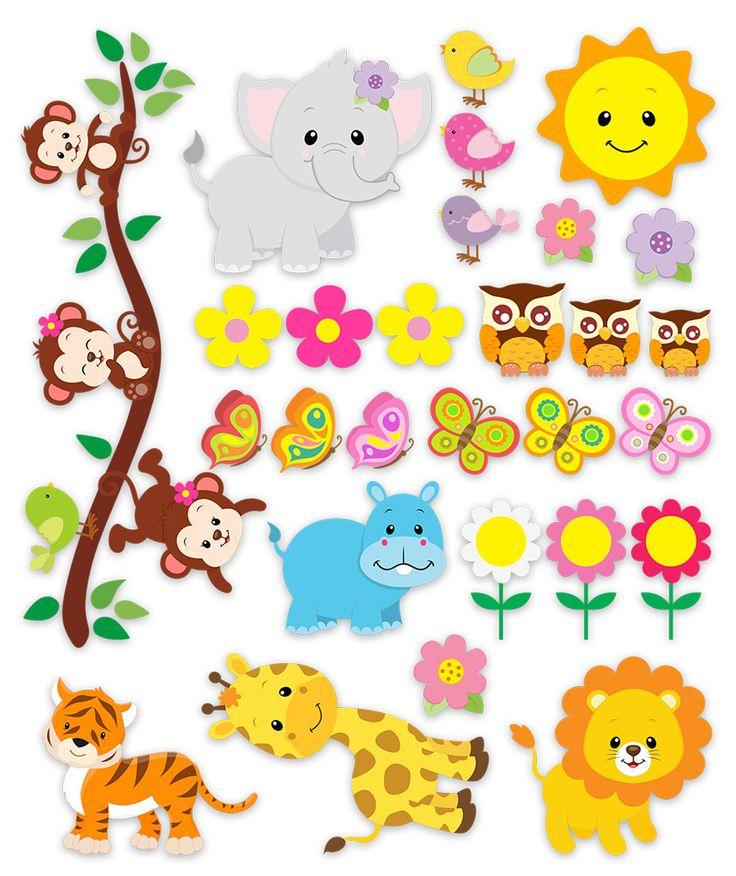 Vinilos Infantiles: Kit animales de la jungla 3