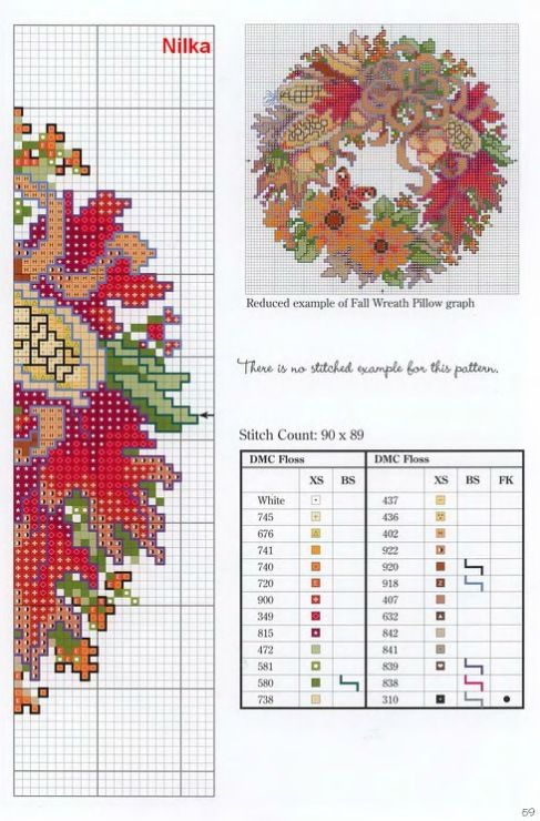 Cross Stitch free Pattern...  Gallery.ru / Фото #8 - венки от D.K. - frango: