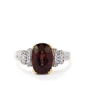 Image result for garnet and brown diamond rings