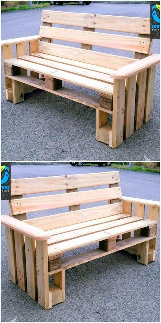 Incredible Diy Ideas With Pallets Wood Reusing Beautiful Wooden Pallets Bench The Post Incredible Di Pallet Decor Diy Pallet Furniture Pallet Patio Furniture