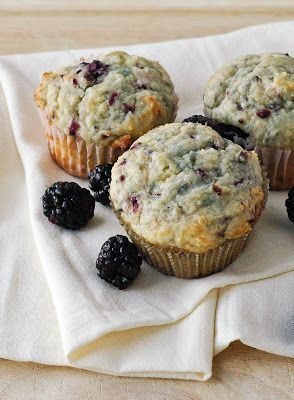 Blackberry Muffins- made these tonight, can't stop eating them! They are soooo good! Maybe try any other fruit? Blackberries were yummy!