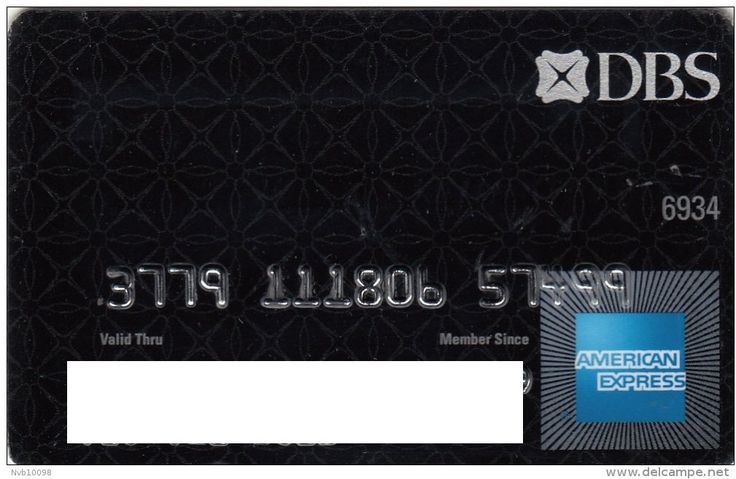 AMEX DBS Bank Black (DBS Bank (Hong Kong) Limited, Hong Kong) Col:HG-AE-0009,QRA:QRA-HK-13