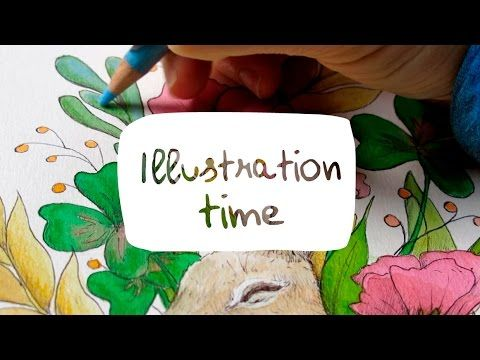 Illustration time #3 - My little woodland - Painting process ~ Charlotte Lyng - YouTube