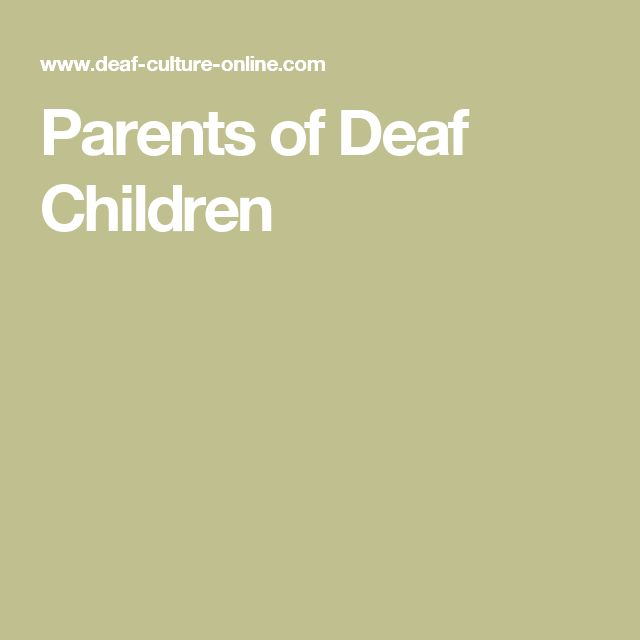 Parents of Deaf Children