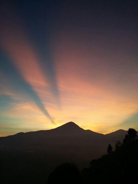 Sunrise at tebing keraton, Bandung, Indonesia