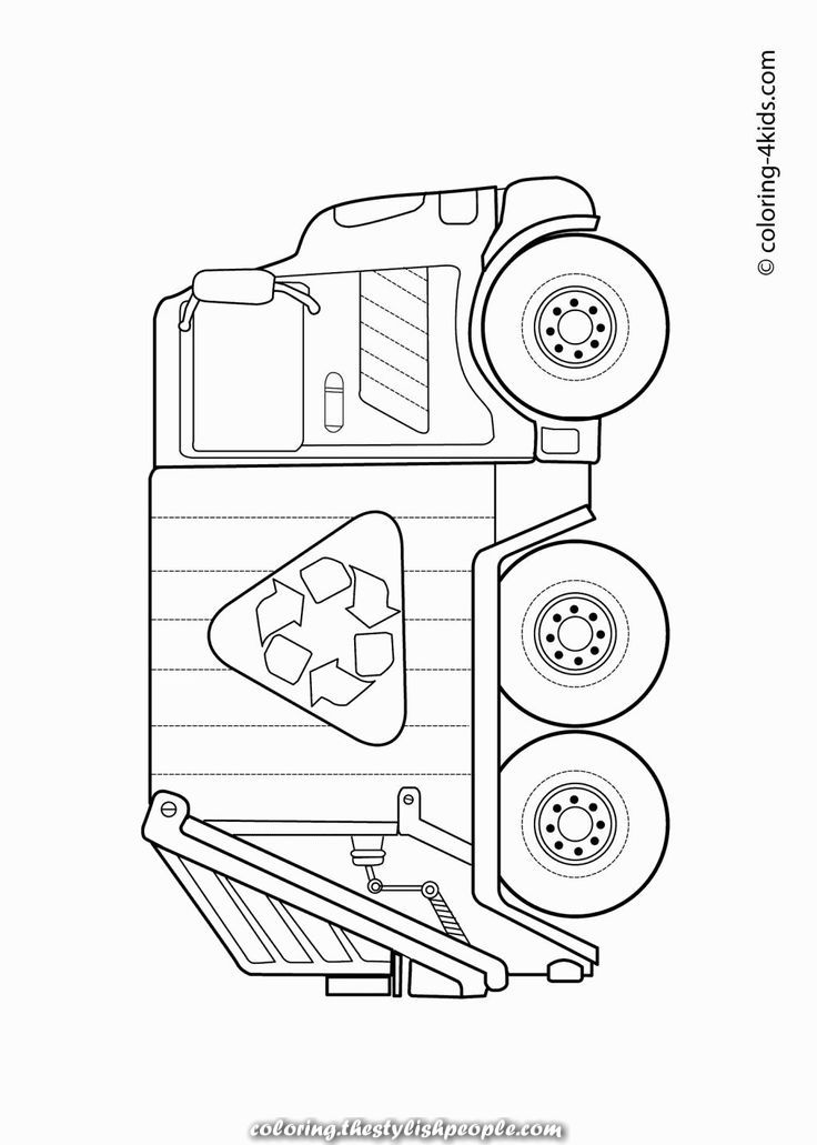 Rubbish Truck Em 2020 Caminhao De Lixo Desenho Caminhao De Lixo
