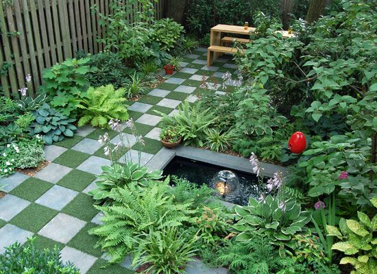 186 best images about synthetic grass landscape design on for Checkerboard garden designs