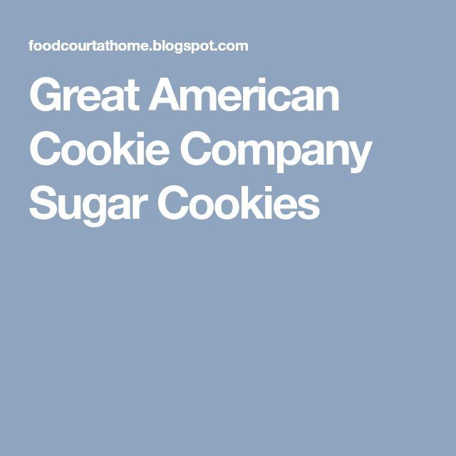 Great American Cookie Company Sugar Cookies