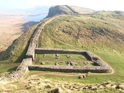 Hadrian's Wall looking over to Crag Lough from northofthetyne.co.uk