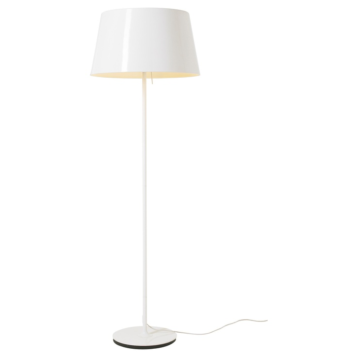Ikea White Floor Lamp: KULLA Floor lamp - white - IKEA Like the shade size,Lighting